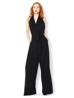 Robert Rodriguez Pleated Halter Jumpsuit #fashion #black