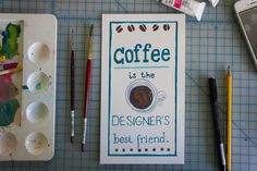 coffee by @bec #designer #illustration #handmade #coffee #gouache #typography