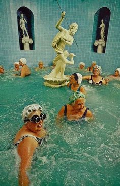 Bathers at the European Health Spa in St. Petersburg, Russia National Geographic | November 1973 #bath #zeus #geographic #nat #russia #geo #national