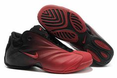 Nike Air Flightposite Red/Black Men Basketball Shoe #shoes