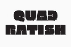 Quadratish by Gaslight - Desktop Font and Mobile Font - YouWorkForThem #quadratish #font #gaslight