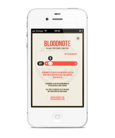 BloodNote   mobile app on the Behance Network