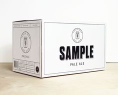 Sample beer branding box #branding #minimal #packaging #beer #pale ale