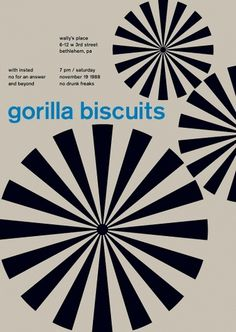 gorilla biscuits at wally's place, 1988 - swissted #print #design #graphic #poster