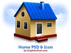 Home psd & icons Free Psd. See more inspiration related to Icon, Home, Icons, Psd, Home icon and Horizontal on Freepik.