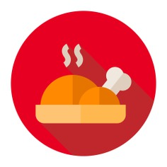 See more icon inspiration related to chicken, cook, food and restaurant, roast chicken, hot food, chicken leg and food on Flaticon.