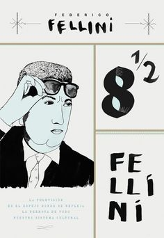 film #fellini #poster #film #blue #typography