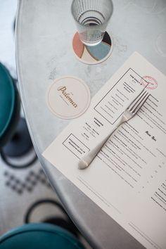 The Palomar #menu #identity #food #print