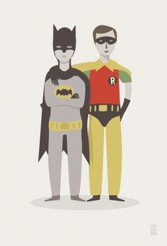 ONION:BLOGG » Blog Archive » Judy Kaufmann #illustration #batman #robin #judy kaufmann