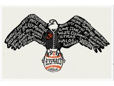 Brian Lindstrom #hand drawn #eagle