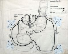 Living Pod - Archigram Archival Project #drawings #sections #architecture #archigram