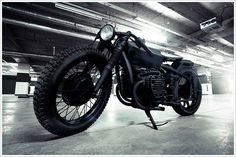 """Bandit9's Chang Jiang 750 """"Nero"""" Pipeburn Purveyors of Classic Motorcycles, Cafe Racers #out #bobber #blacked #motorcycle"""