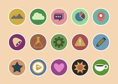 Krispicons – Free Modern Flat Icons PSD