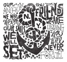 Changing Lines's Photos - Wall Photos #sailor #anchor #typography