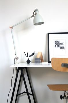 Workspace #interior #lamp #white #decor #workspace