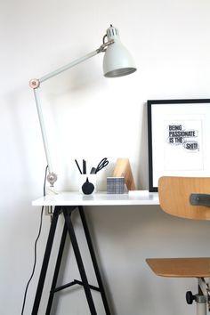 Workspace #white #workspace #interior #lamp #decor