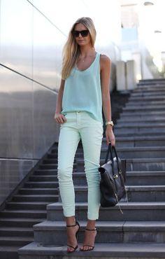 HIGH ROAD.LOW ROAD #fashion #mint #green