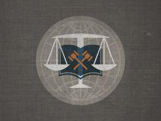 Justice #globe #scales #justice #book #seal #circle #gavel