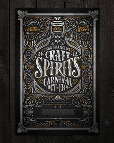Typeverything.comCraft Spirits Carnival poster by Joel Felix. #illustration #lettering #poster