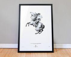 Napoleon Bonaparte poster #illustration #napoleon #poster
