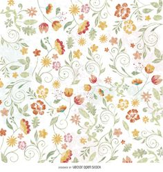 Floral watercolor wallpaper http://bit.ly/29kwQEQ