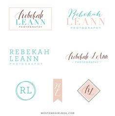 Rebekah LeAnn Photo_v3_options #spring #branding #classic #photography #logo #country