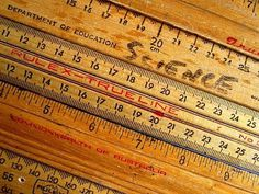 The Shopping Sherpa: Rulers of the world unite! #measure #red #ruler #yellow #wood #vintage