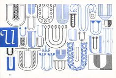 U, Embroidery Letterforms, Present and Correct