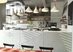 La Petite Bretagne crêperie interior by Paul Crofts Studio #interior #design #crperie #restaurant #crpes #deco #decoration