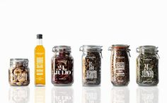 son brusque typography 05 #packaging #jars #food