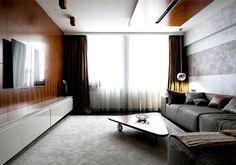 Studio Apartment for Dynamic Couple by Interioburo - living room, interior design, decor, #livingroom