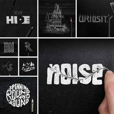 Typographic Artwork Illustrations