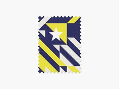 Bosnia-Herzegovina #stamp #graphic #maan #geometric #illustration #minimal #2014 #worldcup #brazil
