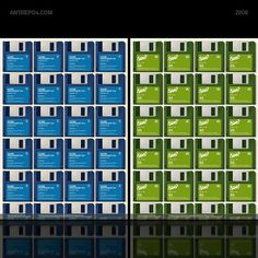 3.5 inch poster set on the Behance Network #repetition #floppy #poster #disk