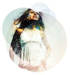 Solo 71   The art of Dave Behm #model #sun #spots #circles #stars #female