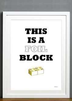 Foil Block #print #foil #illustration
