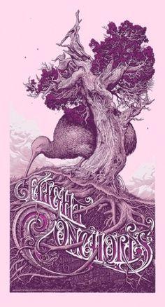 Aaron Horkey - Rock of Eye #illustration #typography #poster #aaron horkey
