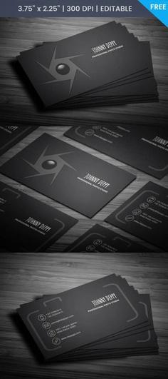 Free Unique Photographer Business Card Template