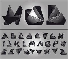 bbee08881842ed50eca37a6d2fd5c423_L.jpg (500×436) #lines #black #geometric #digital #letter #linear #type #angular #typography