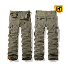 Mens Belted Cargo Pants CW140356 #belted #cargo #pants