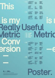 Print-Process / Product / Metric Conversion #of #the #metric #poster #state #obvious