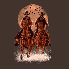 Come at night #skull #horse #horror #art #illustration