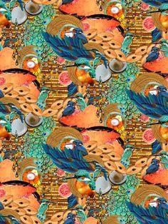 Chikoo Kingfisher Half Drop Repeat