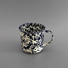 Marbled Enamel Mug Navy #mug #enamel