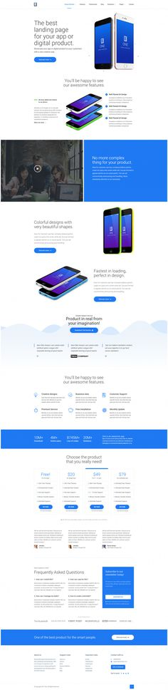 One – Product Landing Page