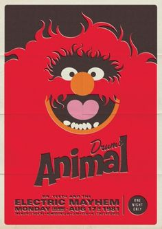 Retro Muppet Concert Posters | Michael De Pippo #post #illustration #muppets #poster #animal