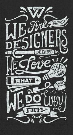 We Are Designers by Javi Bueno