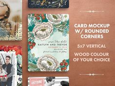 Free Holiday Card Mockup With Rounded Corner
