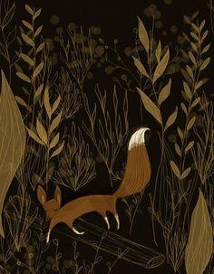 Fox Illustration « BlueBirdee #illustration #ink #fox #art