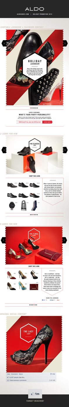 ALDO | Holiday Promotion 2012 on Behance #promotion #layout #web